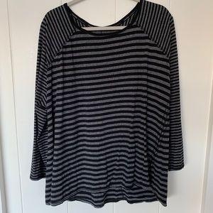 Calvin Klein Black & White Striped Top